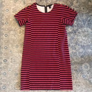 J Crew red and blue stripe dress! America! July!